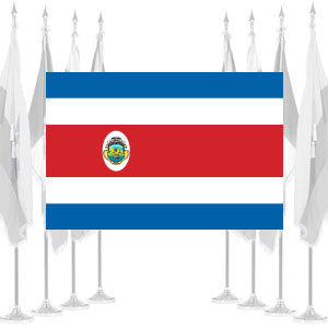 Costa Rica Government Ceremonial Flags