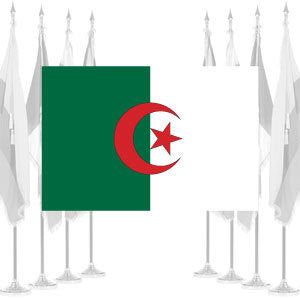 Algeria Ceremonial Flags
