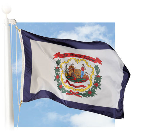 West Virginia Outdoor Flags