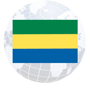 Gabon Outdoor Flags