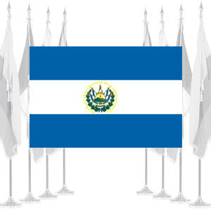 El Salvador Government Ceremonial Flags