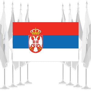 Serbia Ceremonial Flags