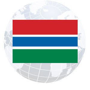 Gambia Outdoor Flags