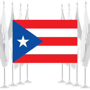 Puerto Rico Ceremonial Flags and Sets
