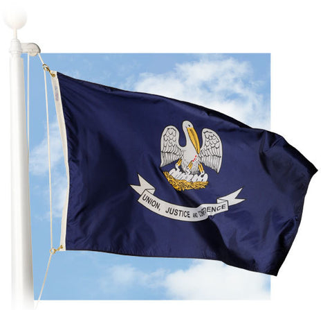 Louisiana Outdoor Flags