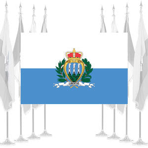 San Marino Government Ceremonial Flags