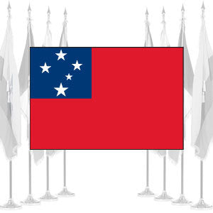 Western Samoa Ceremonial Flags