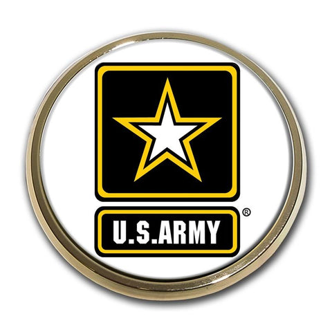 Army Star Chrome Auto Emblem