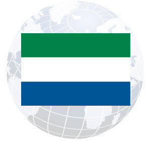 Sierra Leone Outdoor Flags