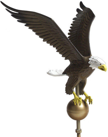 Flagpole Eagle Ornament - Natural