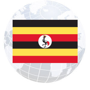 Uganda Outdoor Flags