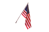 THE AMERICAN WAVE Residential American Flag Set with Spinning Pole (fixed bracket)