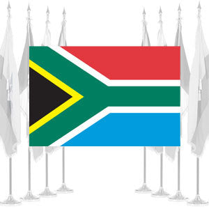 South Africa Ceremonial Flags