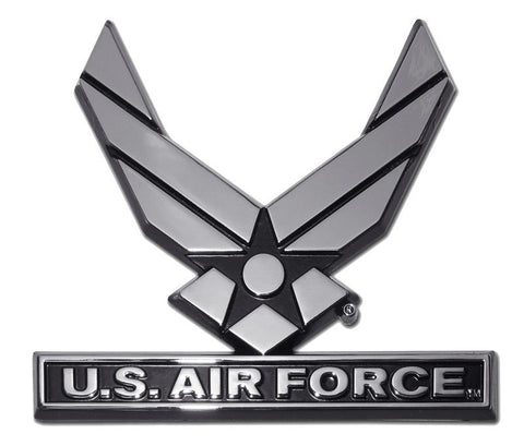 Air Force Wings Chrome Auto Emblem