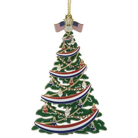 Patriotic Christmas Tree Ornament