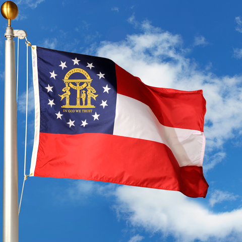 Georgia Polyester Outdoor State Flags