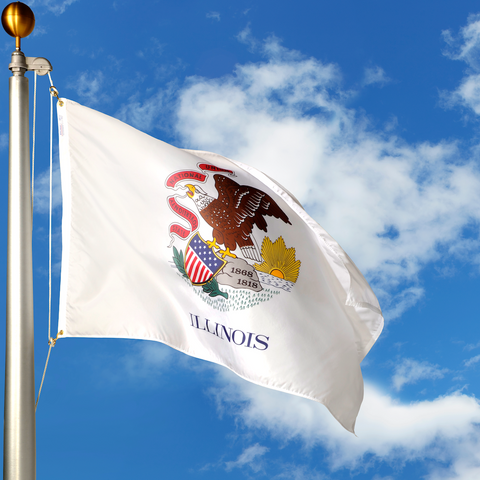 Illinois Polyester Outdoor Flags