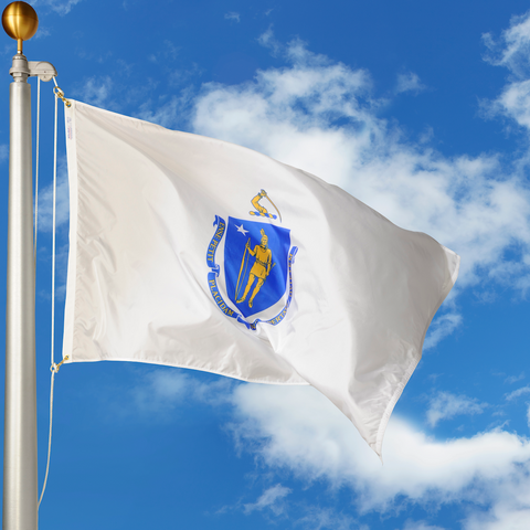 Massachusetts Polyester Outdoor Flags