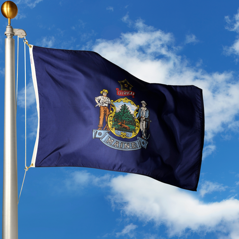 Maine Polyester Outdoor Flags