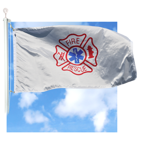 Emergency Fire Rescue Flag