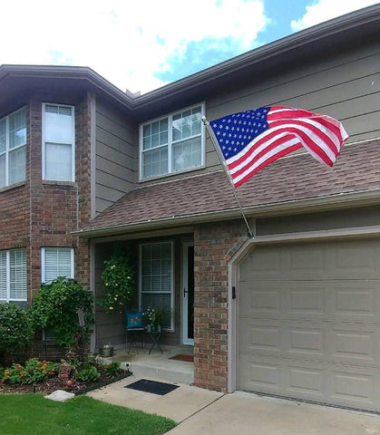 The American Wave - Residential American Flag Set with Spinning Pole (Fixed Bracket)