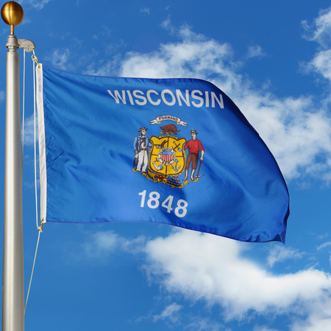 Wisconsin Polyester Outdoor Flags