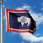 Wyoming Polyester Outdoor Flags