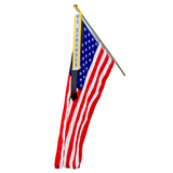 We Remember Ribbon with 3'x5' American flag for 9/11