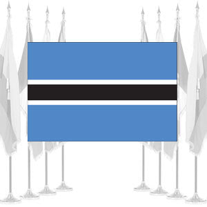 Botswana Ceremonial Flags