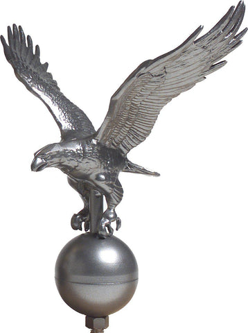 Flagpole Eagle Ornament - Pewter