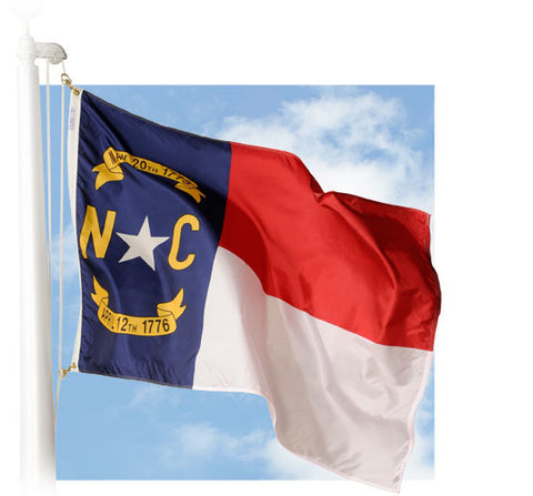 North Carolina Outdoor Flags