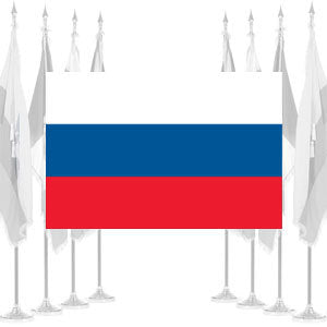 Russia Ceremonial Flags