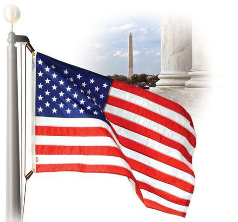 American Flags - Rugged WaveCrest Polyester - popular sizes