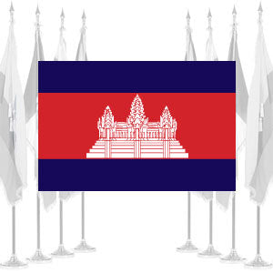 Cambodia Ceremonial Flags