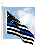 Thin Blue Line 50-star 3'x5' nylon outdoor flag