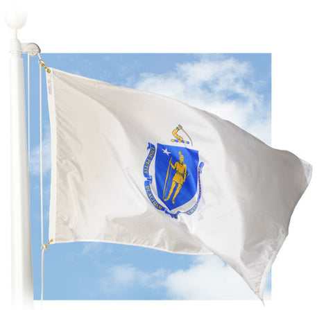 Massachusetts Outdoor Flags