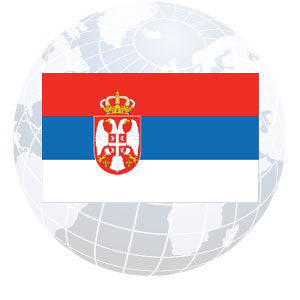 Serbia Outdoor Flags