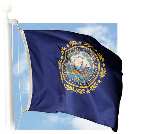 New Hampshire Outdoor Flags