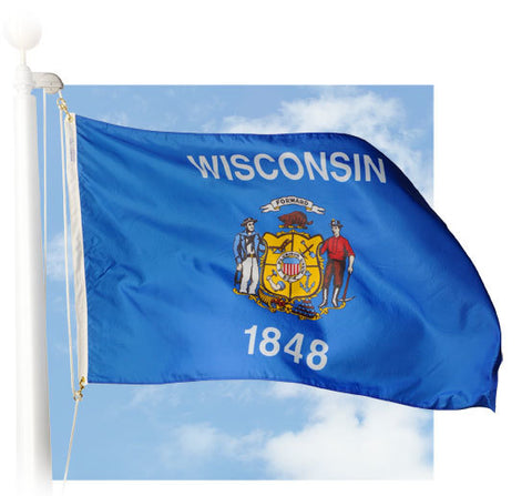 Wisconsin Outdoor Flags
