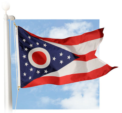 Ohio Outdoor Flags