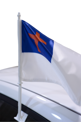 Christian Car Window Flag
