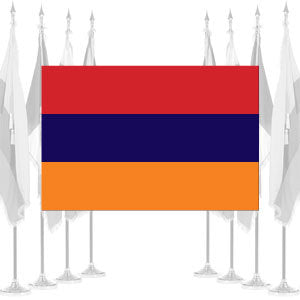 Armenia Ceremonial Flags