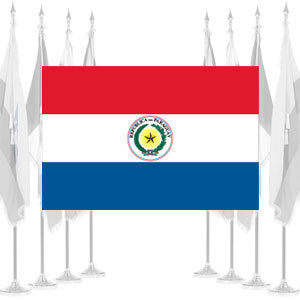 Paraguay Ceremonial Flags