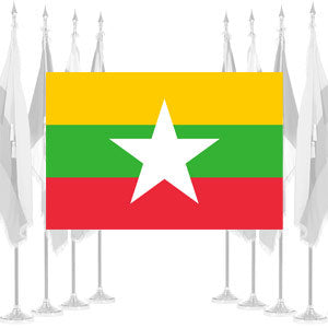 Myanmar (Burma) Ceremonial Flags