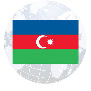 Azerbaijan Outdoor Flags