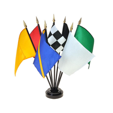 Motor Racing Mini Flag Set