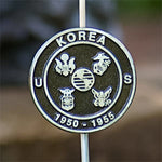 Grave Markers - Flag Holders, Korea 1950-1955