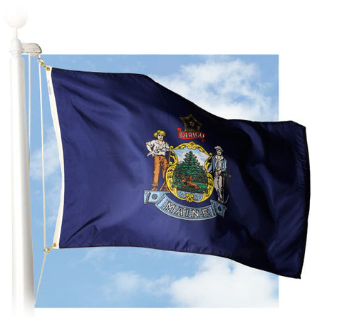 Maine Outdoor Flags
