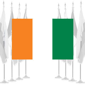 Ivory Coast Ceremonial Flags