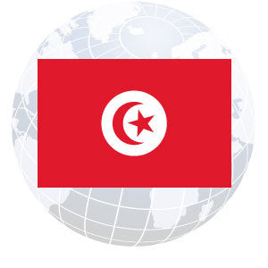 Tunisia Outdoor Flags